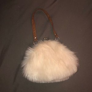 Toddler purse. Faux fur. Never used